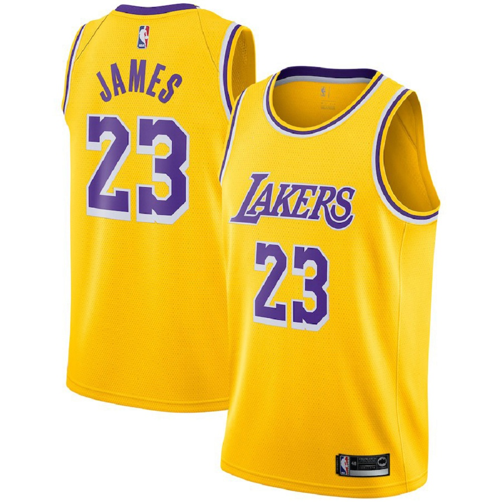 Majestic Athletic Gold Men's #23 LeBron James Los Angeles Lakers Swingman Jersey
