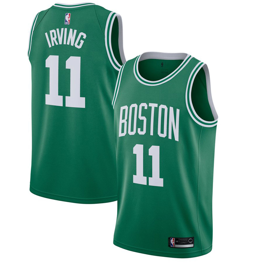 Majestic Athletic Kyrie Irving Green #11 Men's Boston Celtics Swingman Jersey