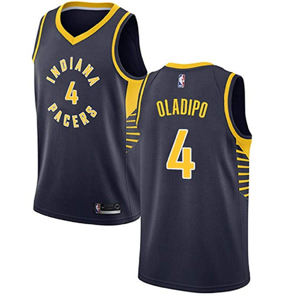Majestic Athletic Victor Oladipo #4 Indiana Pacers Women's Navy Swingman Jersey