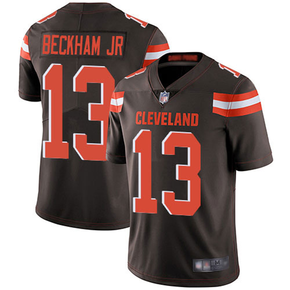 Men's Cleveland Browns Odell Beckham Jr 13# Brown Limited Stitch Jersey