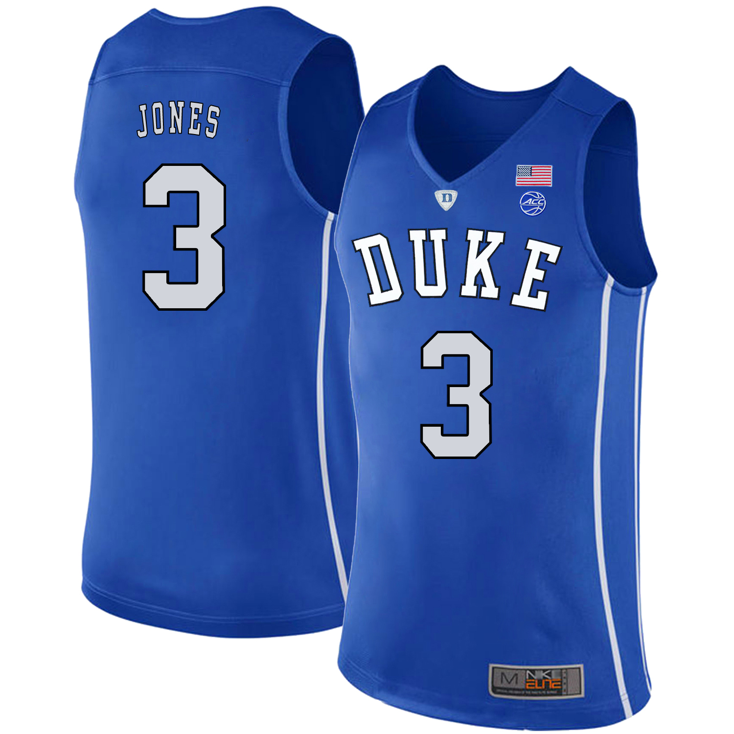 Majestic Athletic Men??s Duke Blue Devils #3 Tre Jones Black College Basketball Jersey