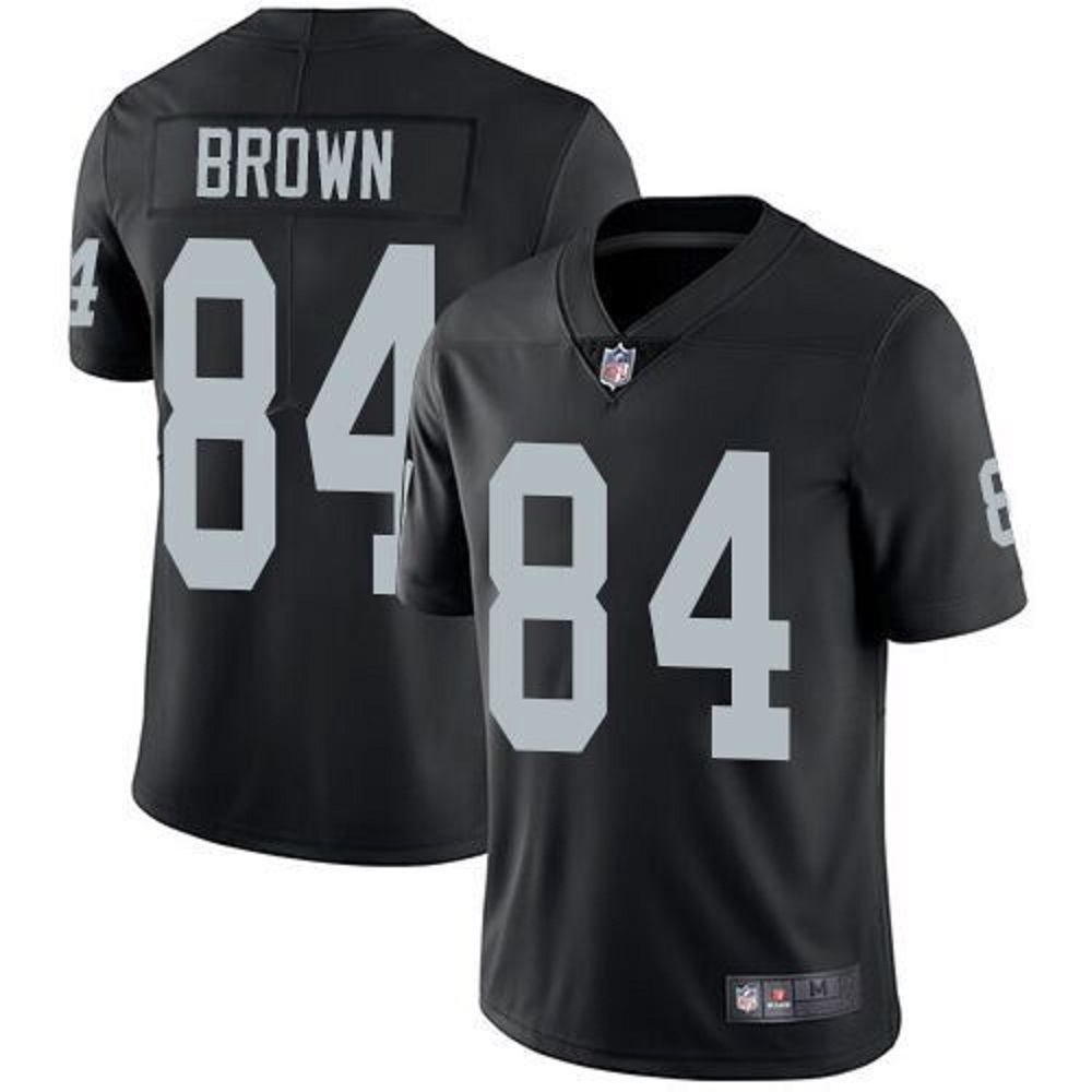 Mitchell & Ness Antonio Brown Men's Oakland Raiders #84 Black Limited Stitch Jersey