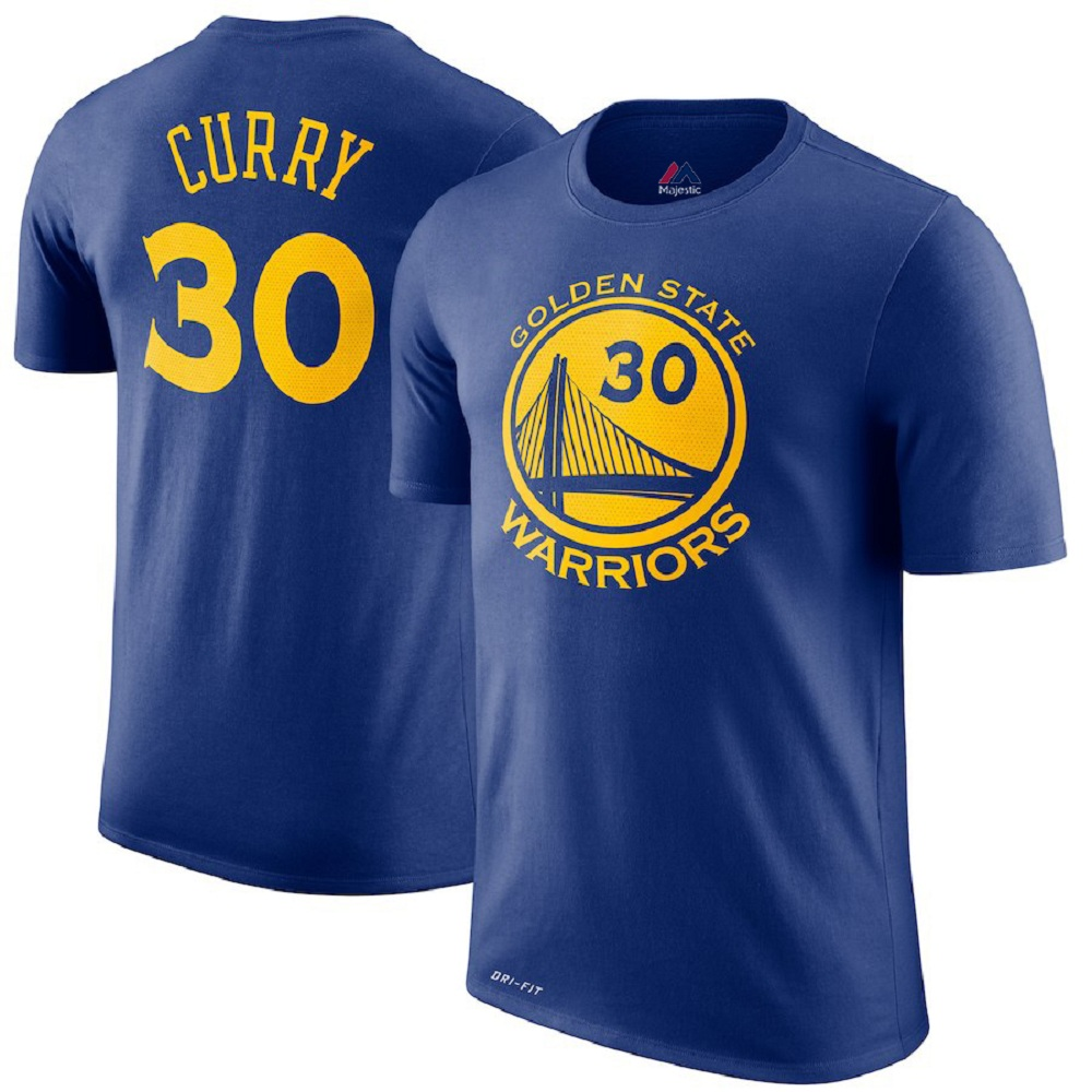 Majestic Athletic Stephen Curry Men's Golden State Warriors Royal #30 Jersey T-Shirt