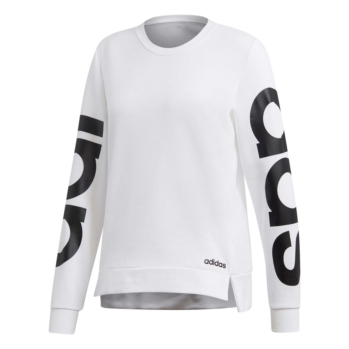 adidas Essentials Womens Long Sleeve Branded Crew