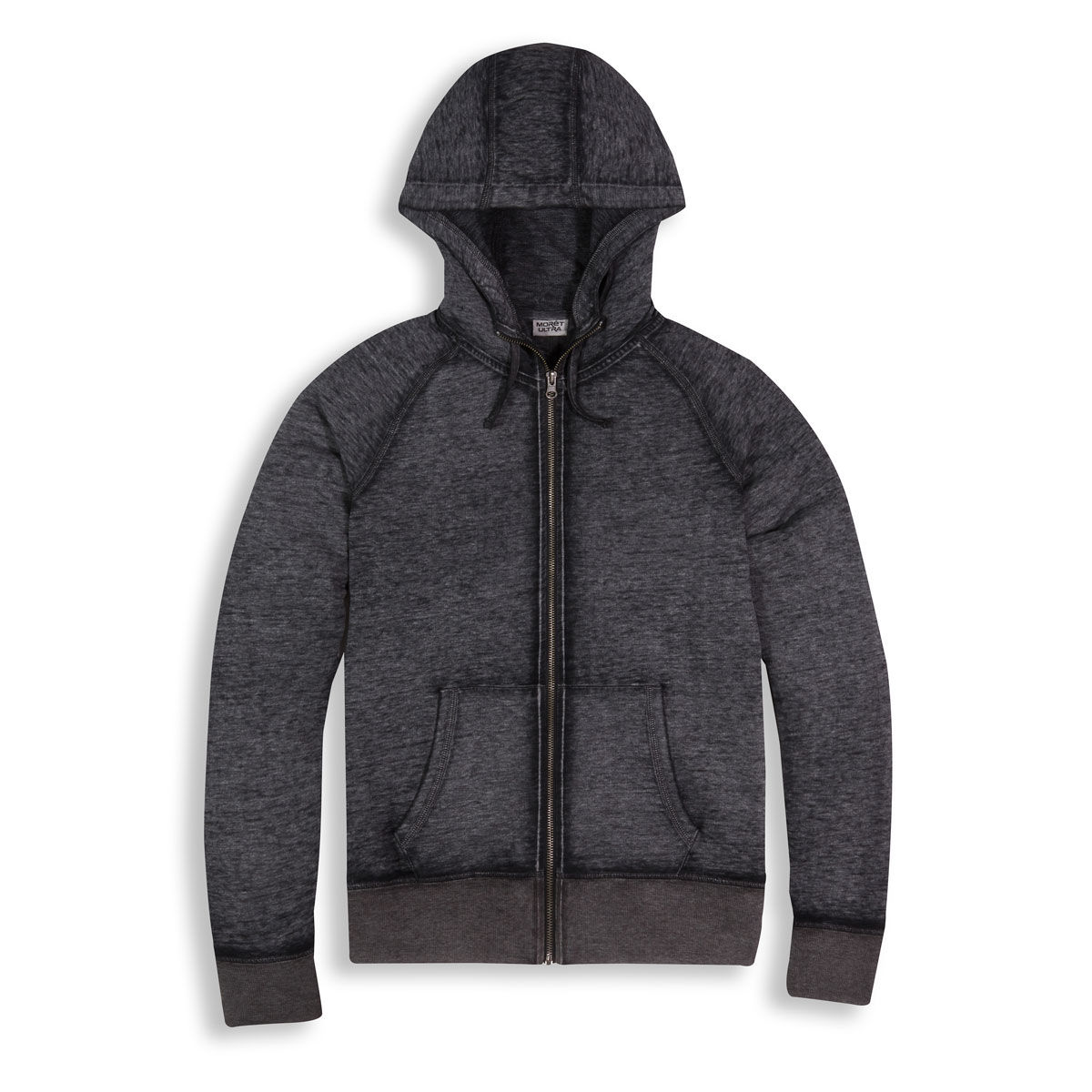 Moret Ultra Womens Full Zip Burnout Wash Hoodie