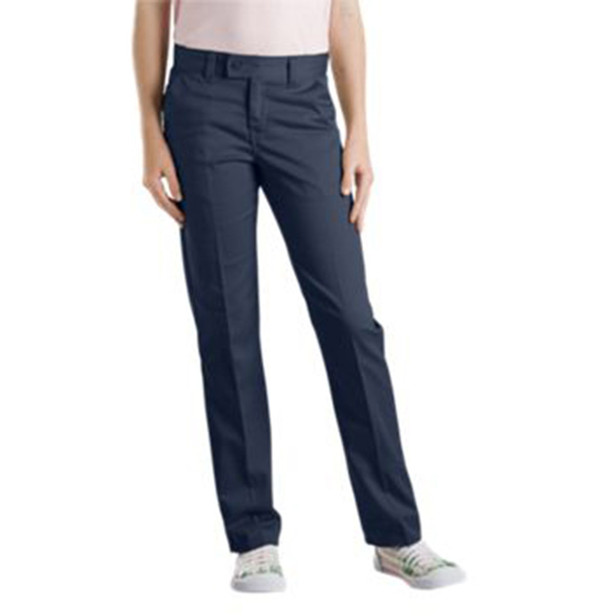 Dickies Girls Slim Straight Stretch Twill Pant (Size 7-20)