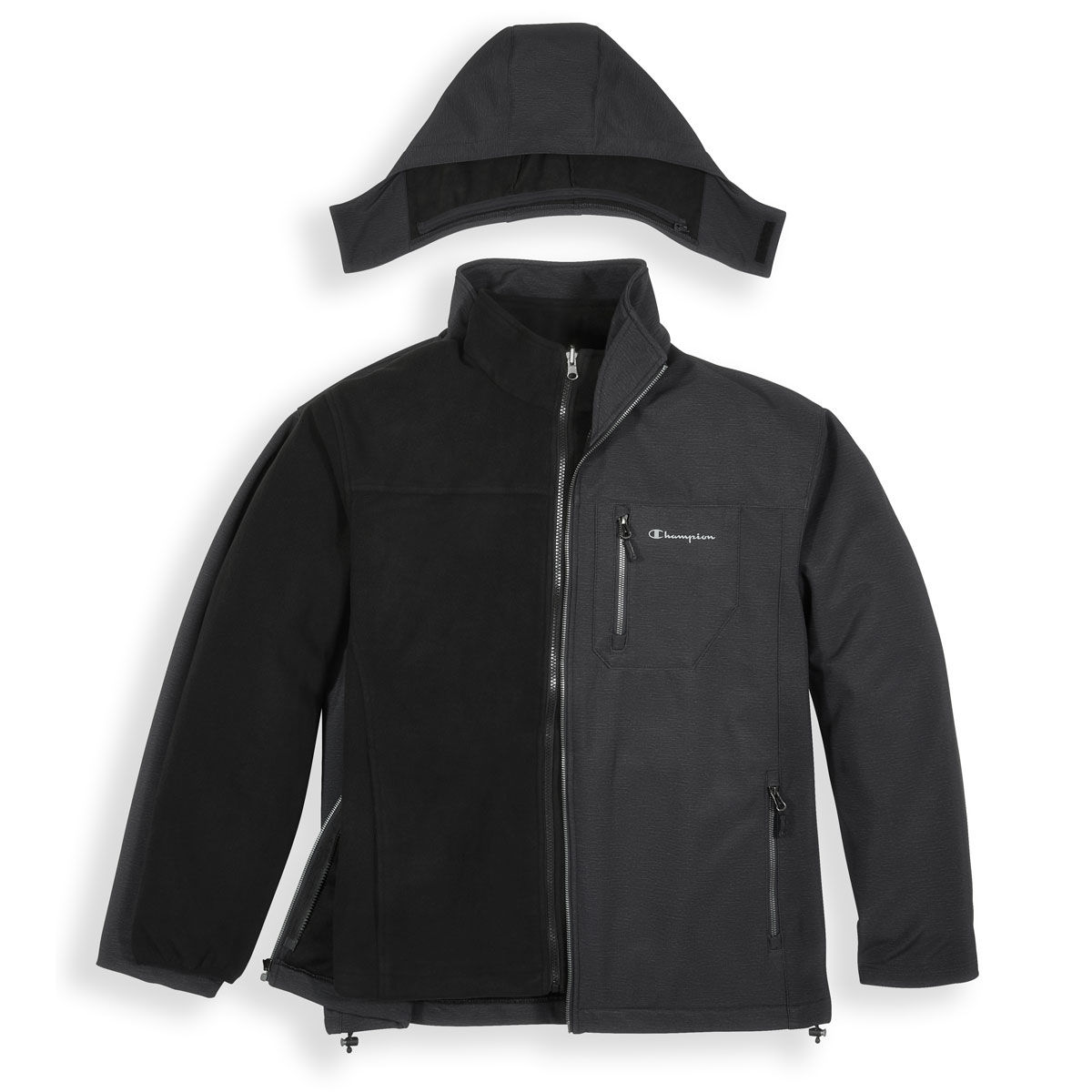 Champion Big Mens Hooded Systems Jacket