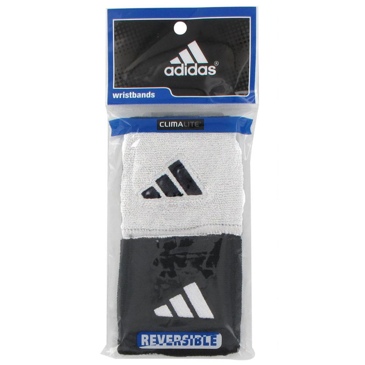 adidas Interval Reversible Wrist Bands White 1 Pair