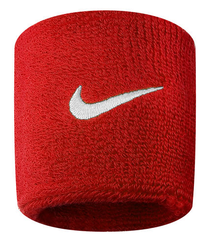 Nike Swoosh Wristbands Red 1 Pair