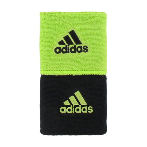 adidas Interval Lime/Black Reversible Wristbands