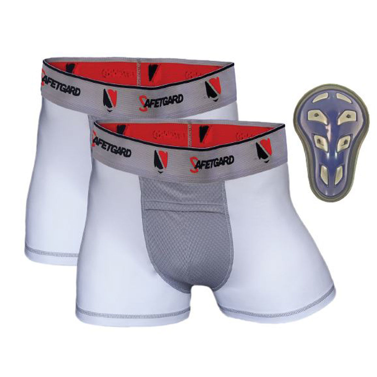 Safe T-Gard Adult Medium 2 Pack Boxer Briefs with Cage Cup
