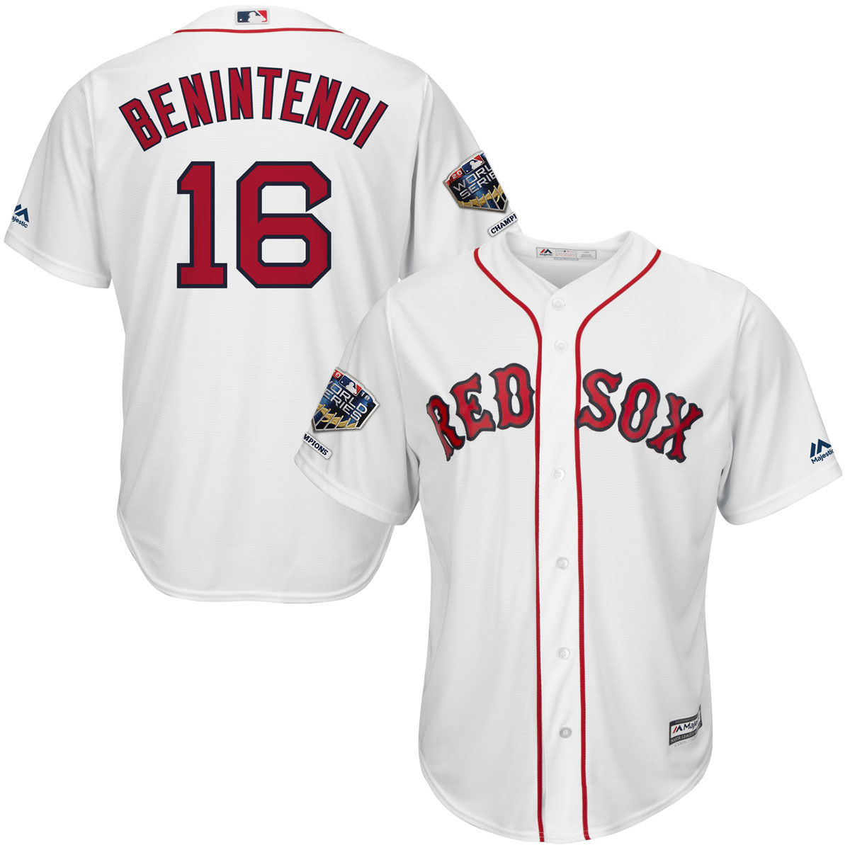 Boston Red Sox Adult Andrew Benintendi 2018 WSC Patch Jersey