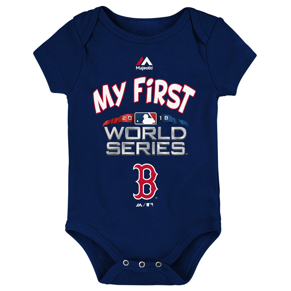 Boston Red Sox Youth 2018 WSC My First Onesie
