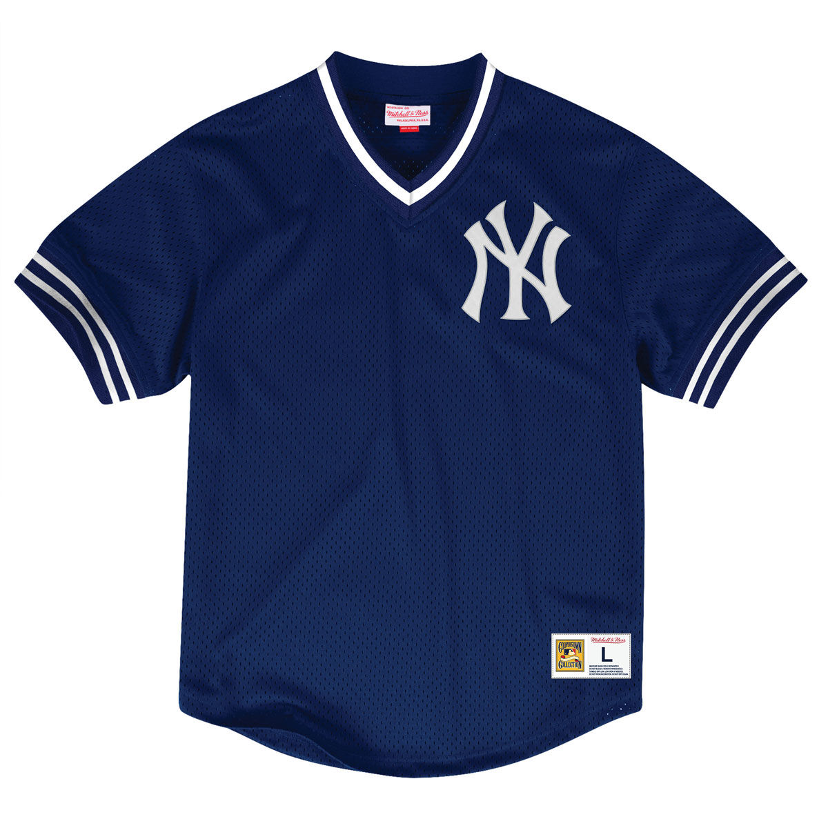 New York Yankees Adult V Neck Mesh Jersey