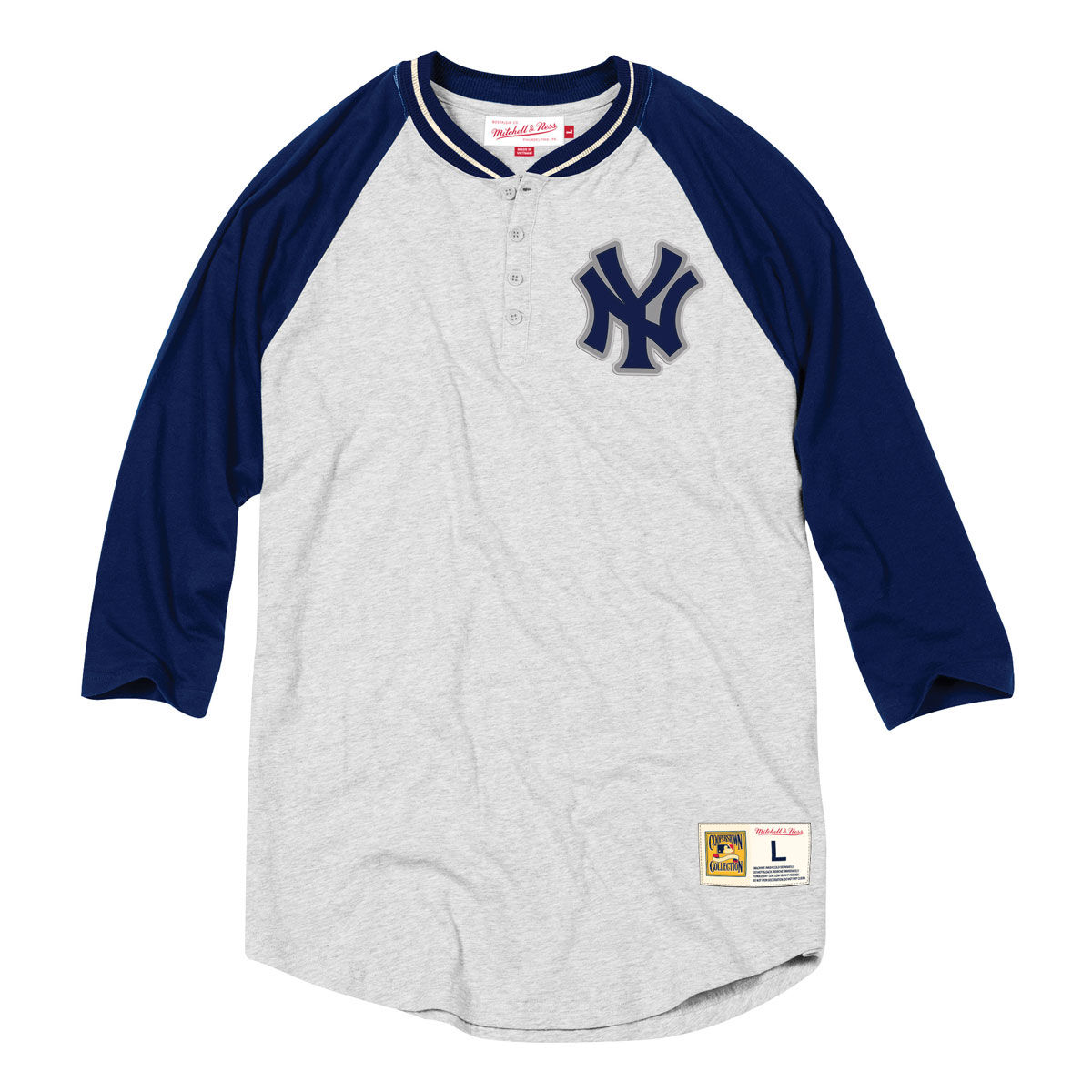 New York Yankees Adult Button Down Henley Shirt
