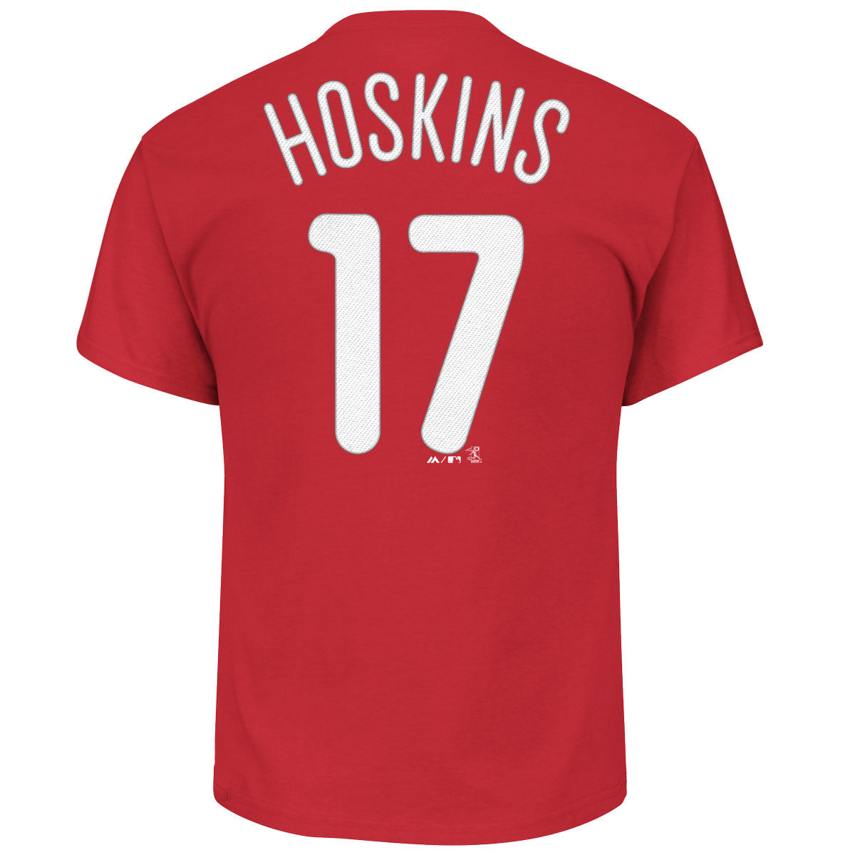 Philadelphia Phillies Adult Rhys Hoskins Name & Number T-Shirt
