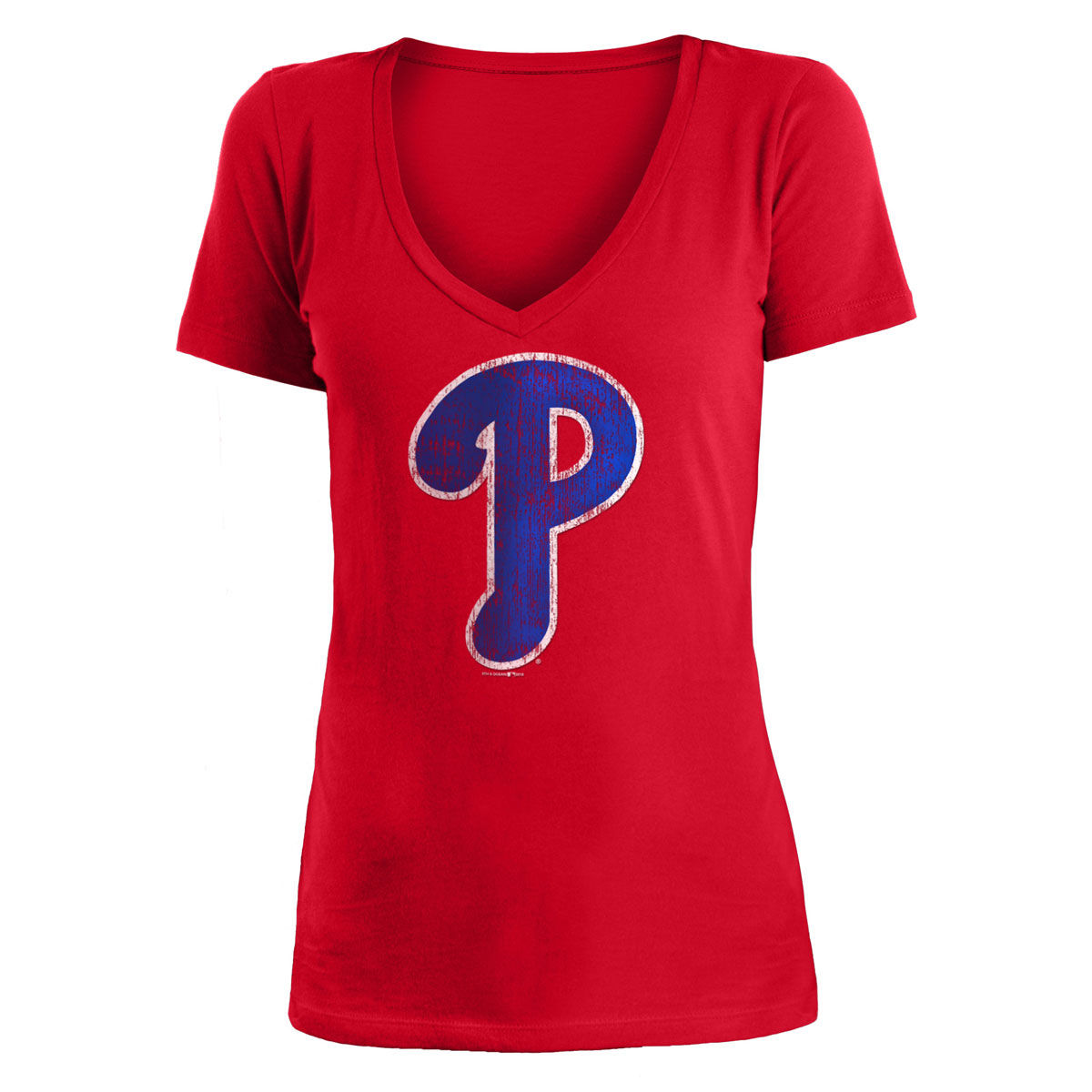 Philadelphia Phillies Womens 2018 V Neck Logo Tee