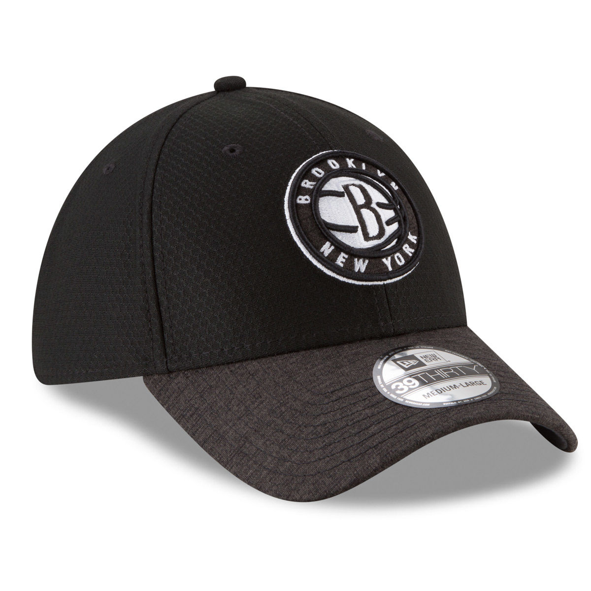 Brooklyn Nets Adult 2018 39THIRTY Stretch Fit Hat