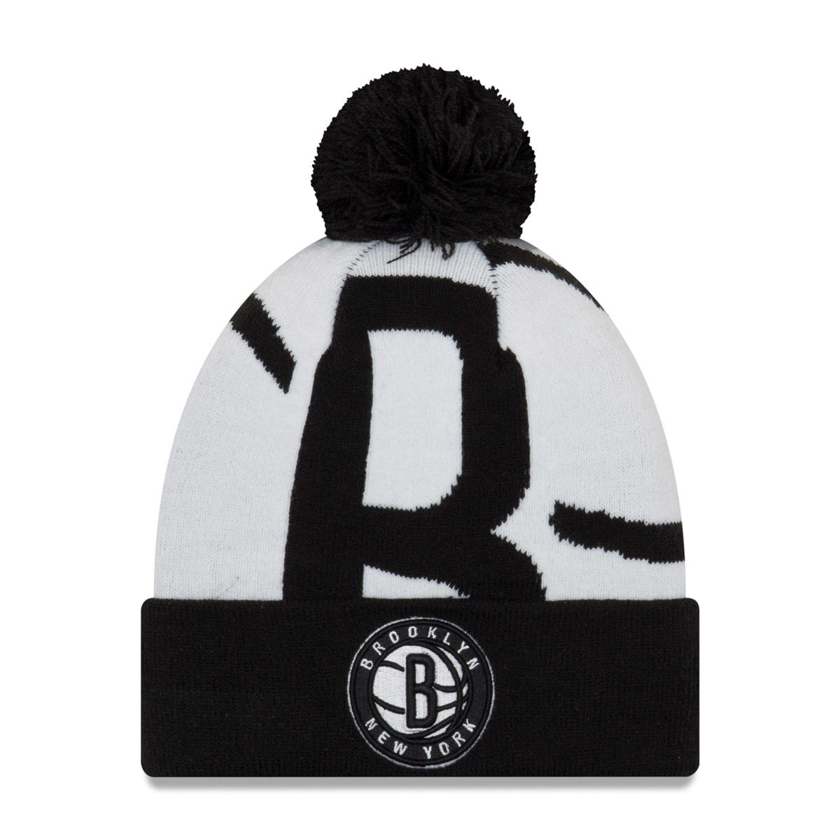 Brooklyn Nets Adult 2018 Pom Knit Hat