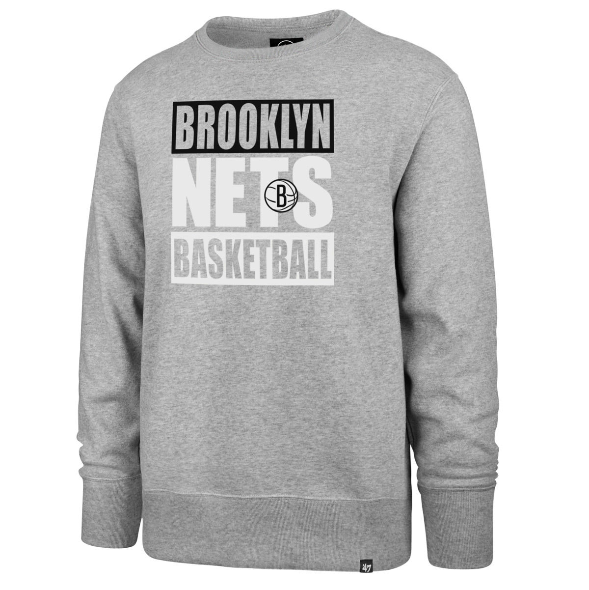 Brooklyn Nets Adult Block Crewneck Sweatshirt