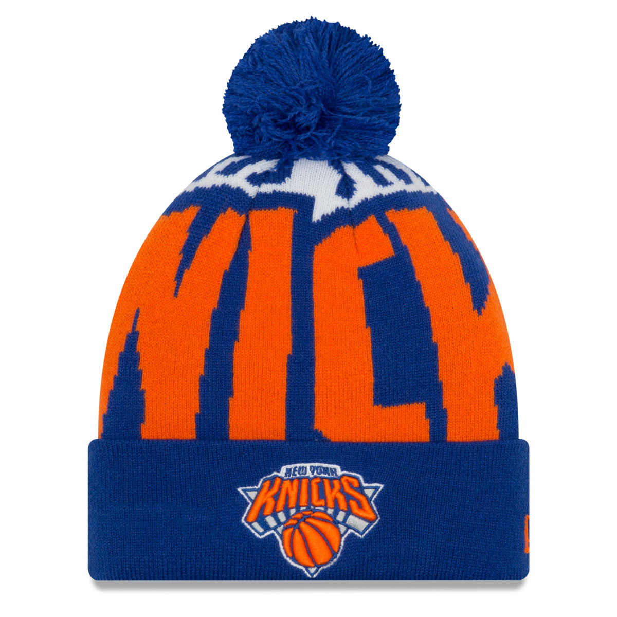 New York Knicks Adult 2018 Pom Knit Hat