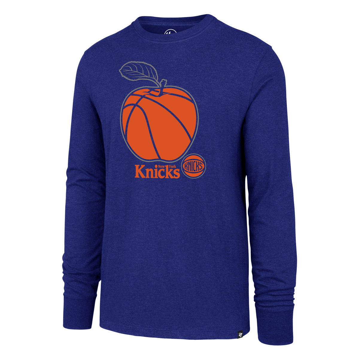 New York Knicks Adult Apple Long Sleeve T-Shirt