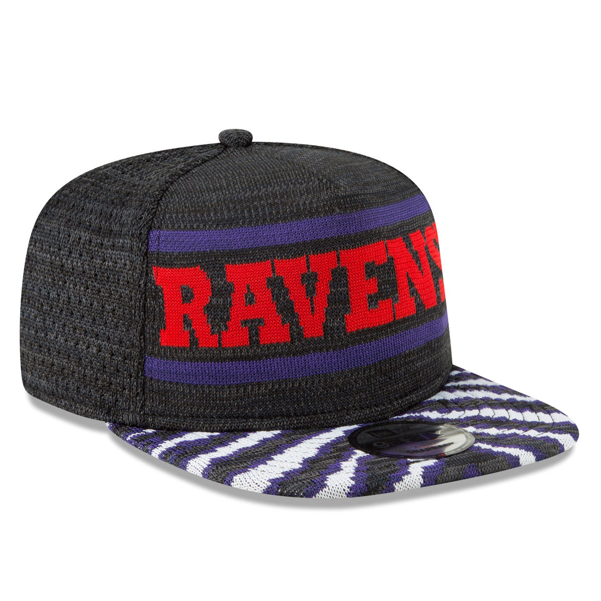 Baltimore Ravens Adult Zubaz 9FIFTY Snapback Hat