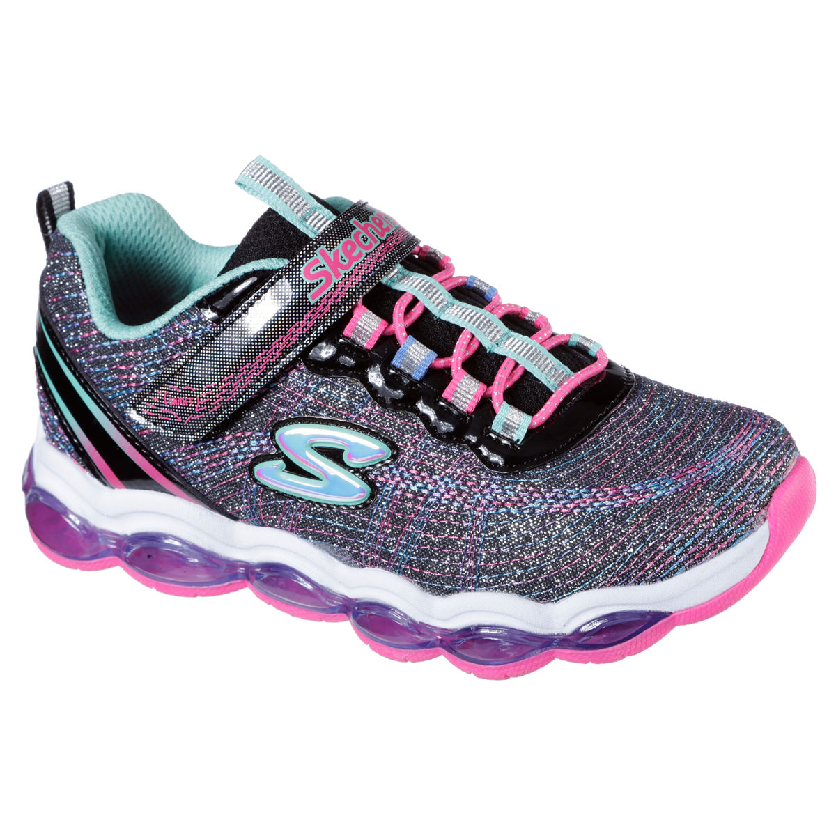 Skechers S Glimmer Lites Pre School Girls Casual Shoe