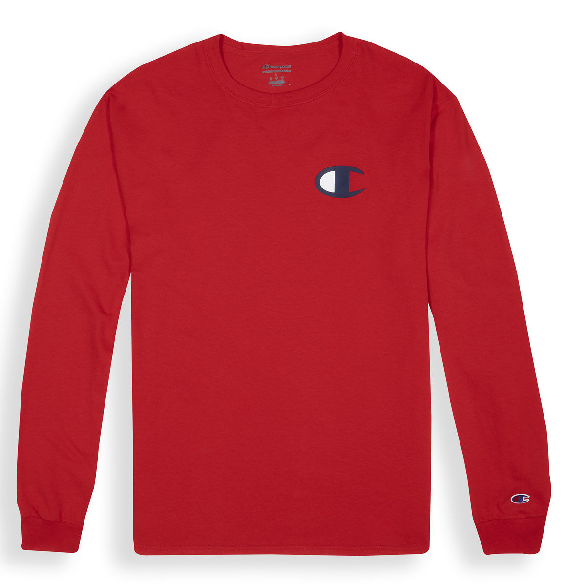 Champion Heritage Mens Big Logo Long Sleeve T-Shirt