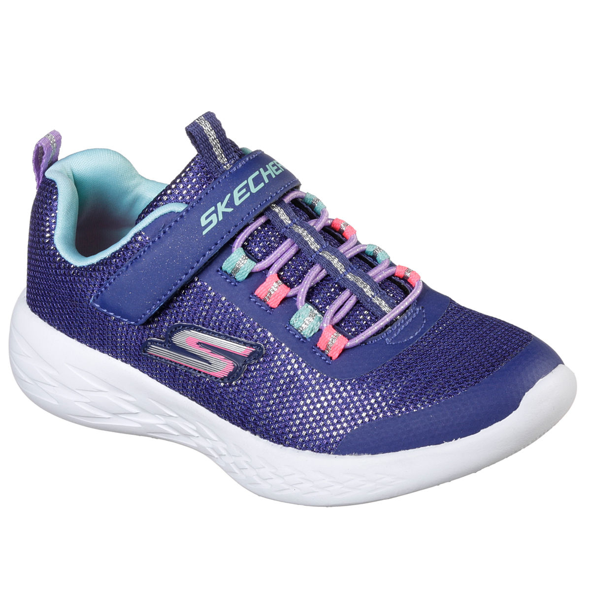 Skechers Go run 600 Sparkle Runner Pre School Girls Casual Shoe
