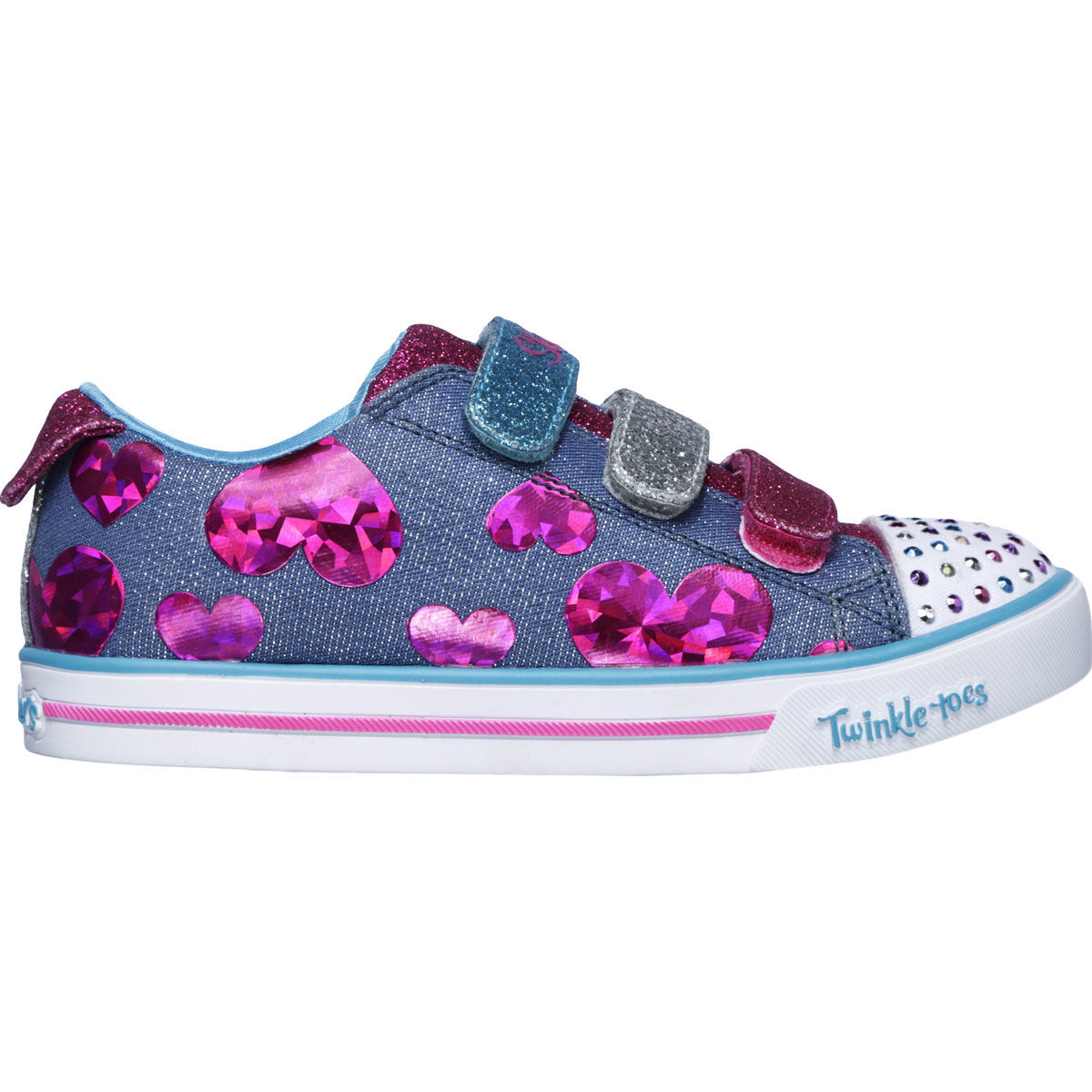 Skechers Sparkle Lite Preschool Girls Casual Shoe