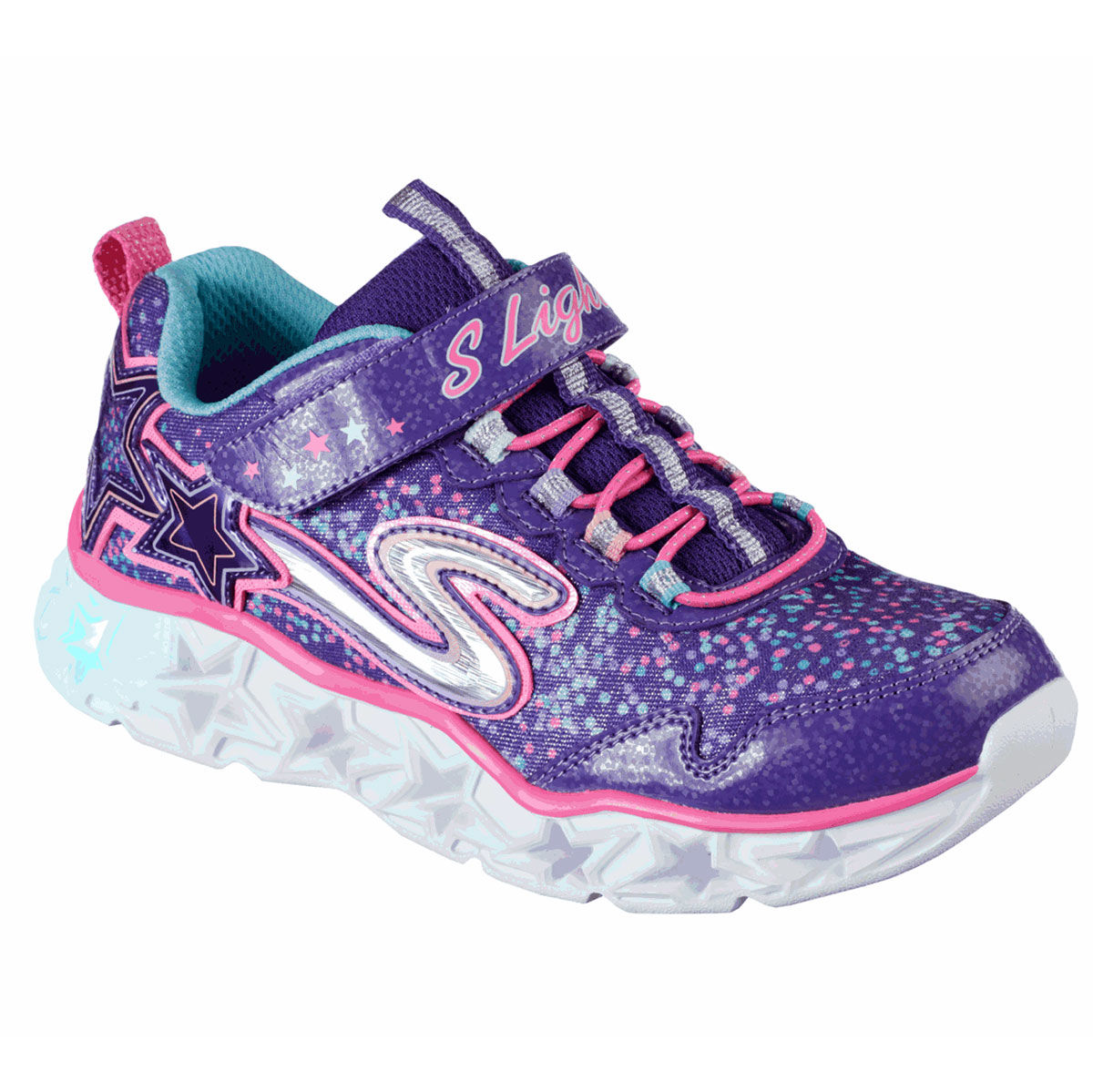 Skechers Galaxy Lights Preschool Girls Casual Shoe