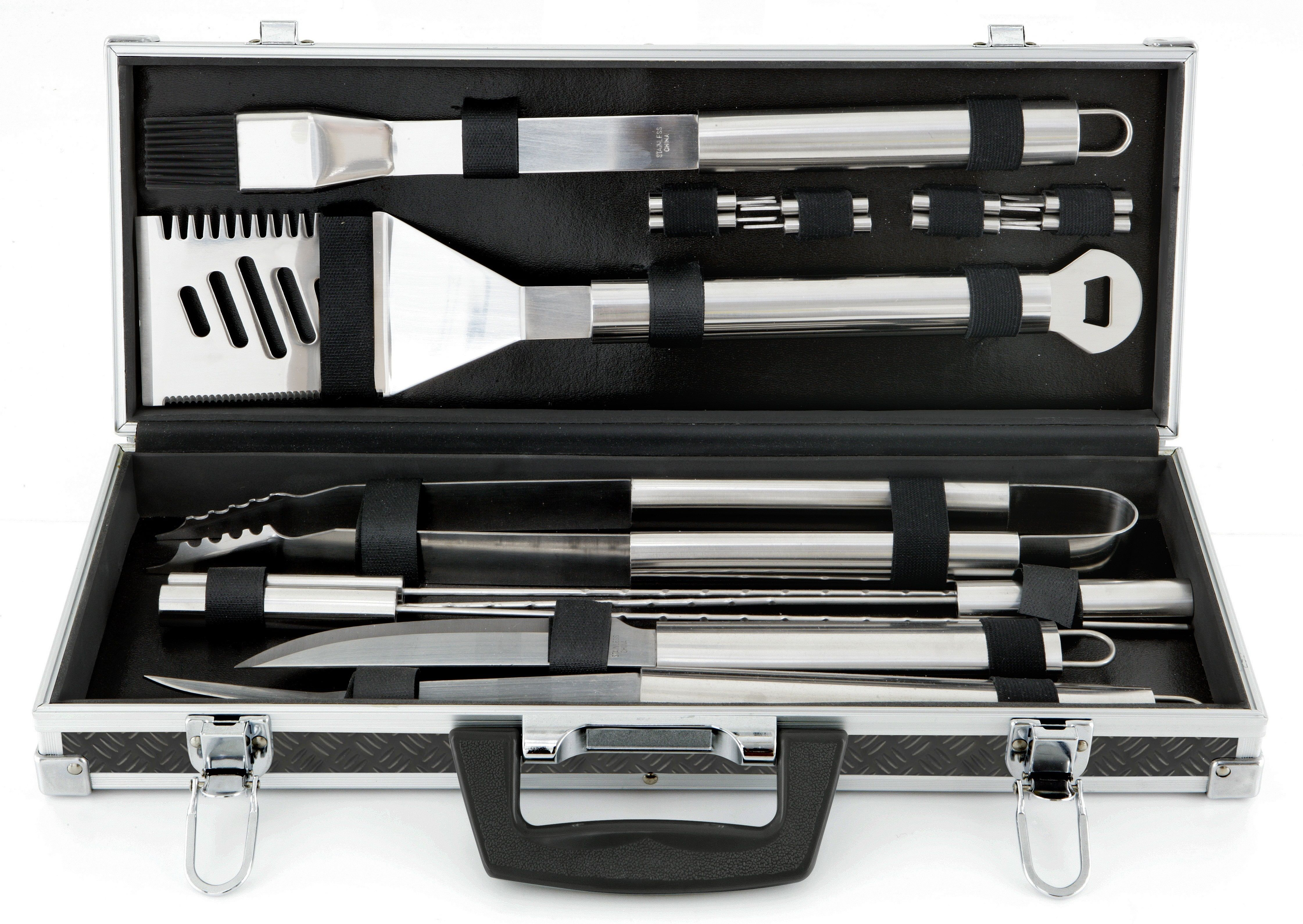 Mr. Bar-B-Q 18-Piece Tool Set with Aluminum Case