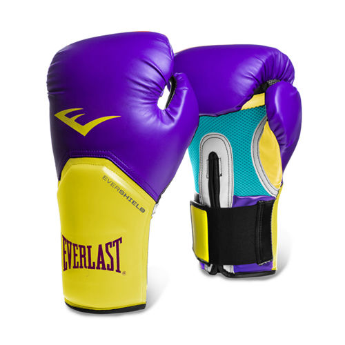 Everlast 12-oz Pro Style Boxing Gloves Purple/Gold