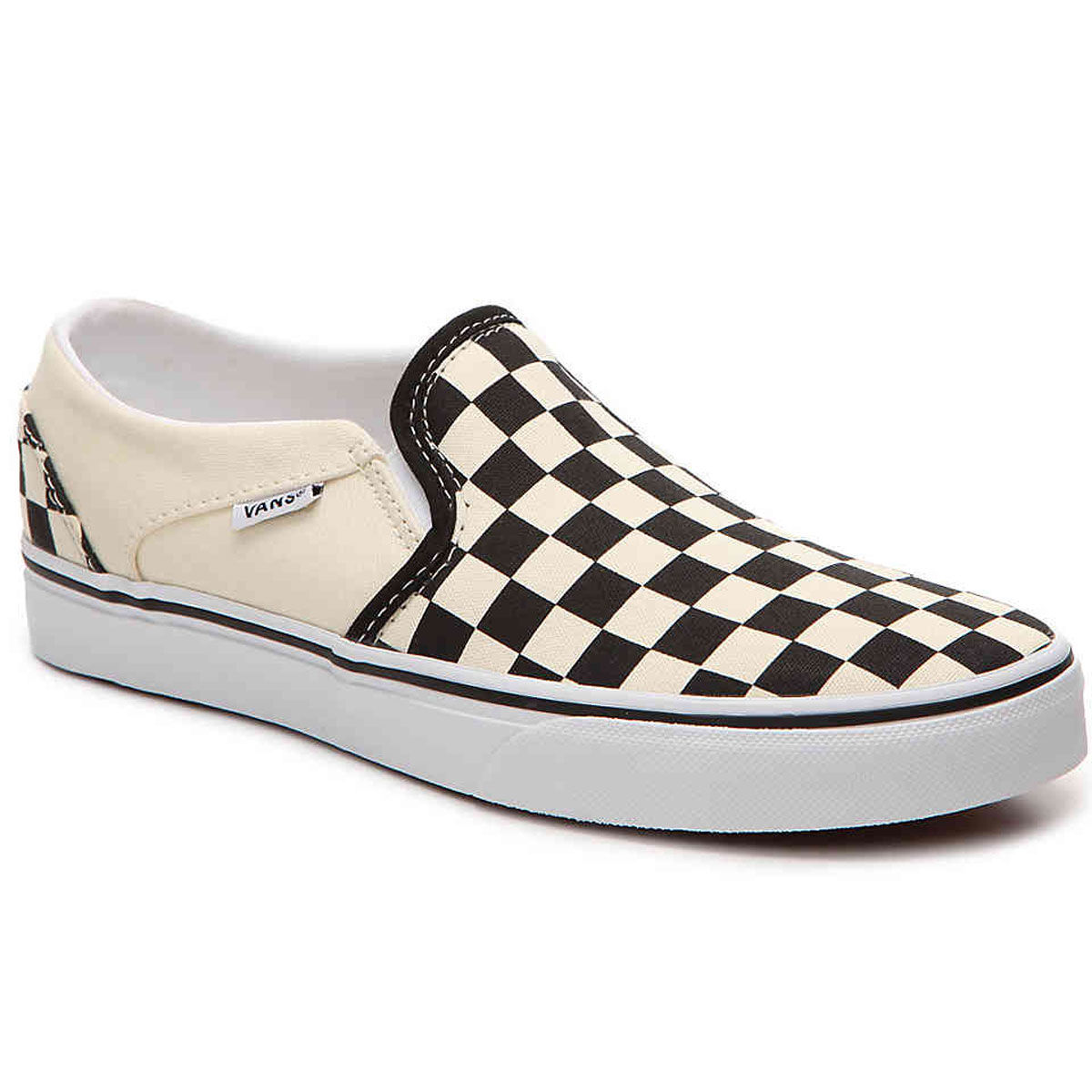 Vans Asher Checkered Slip On Womens Casual Shoe