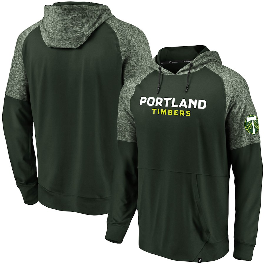 Men's Fanatics Branded Green Portland Timbers Made to Move Pullover Hoodie