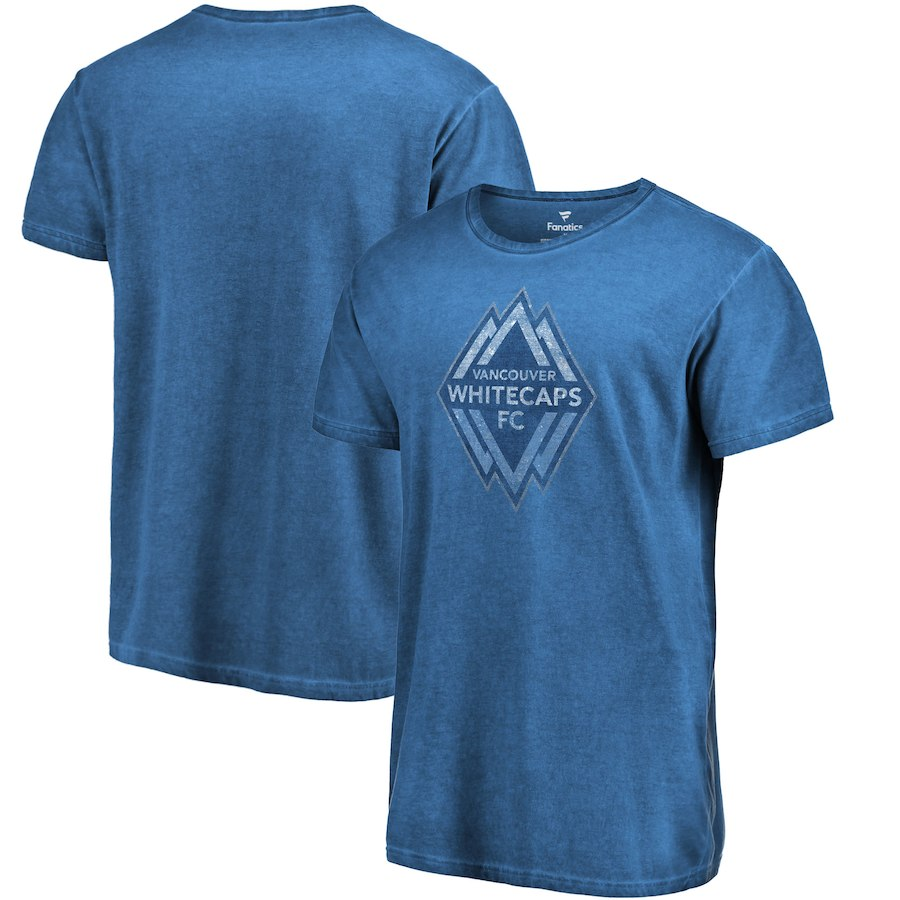 Men's Fanatics Branded Deep Sea Blue Vancouver Whitecaps FC Shadow Washed T-Shirt