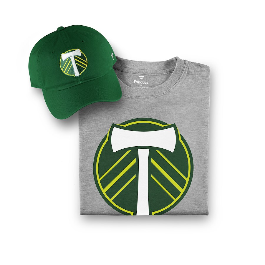 Men's Fanatics Branded Forest Green/Gray Portland Timbers T-Shirt & Adjustable Hat Combo Set
