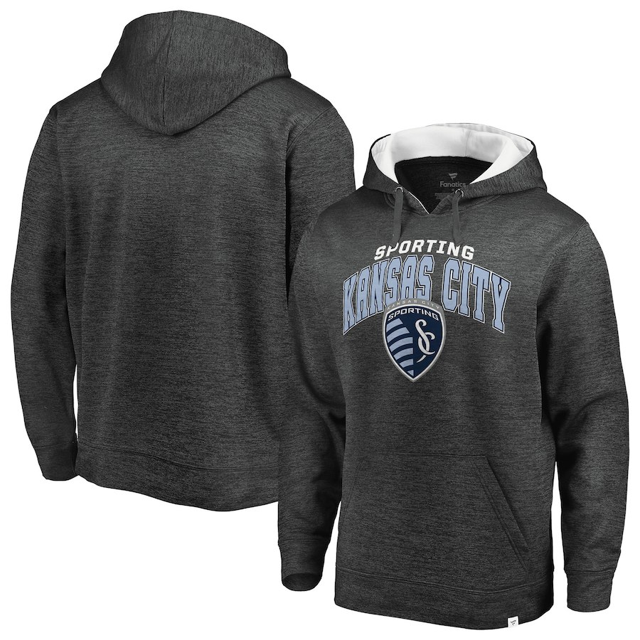 Men's Fanatics Branded Heathered Gray Sporting Kansas City Pullover Hoodie