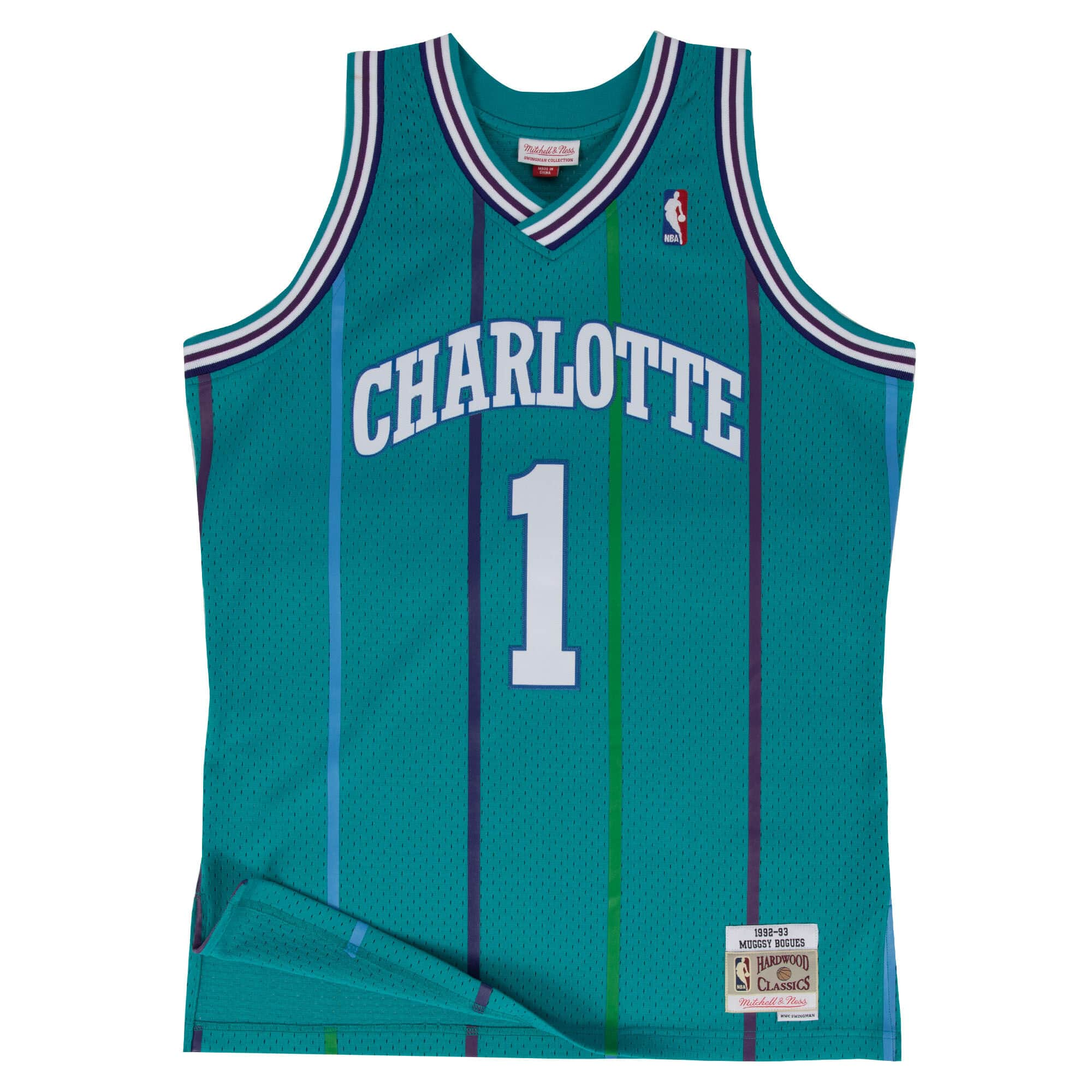 Swingman Jersey Charlotte Hornets Road 1992-93 Muggsy Bogues