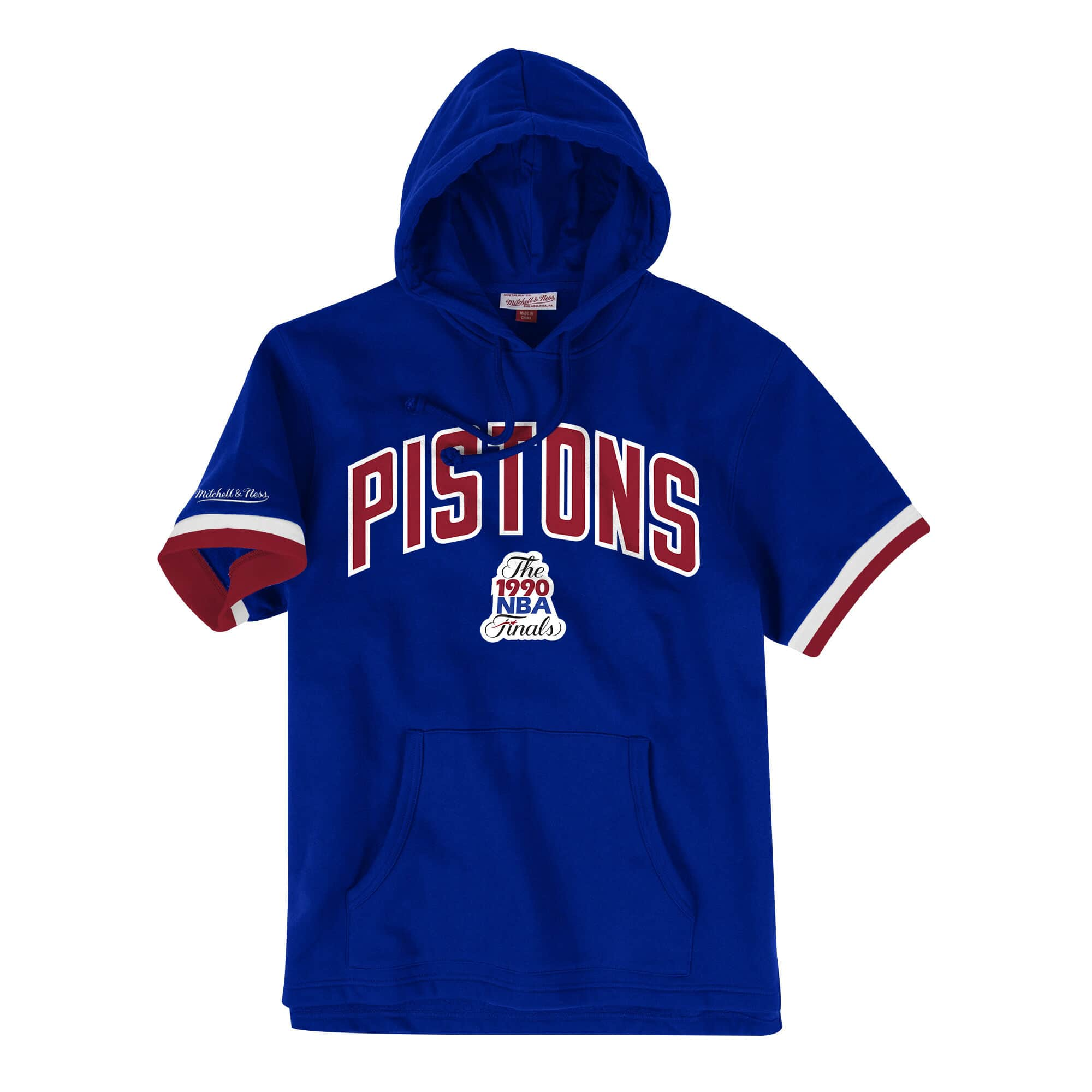 French Terry Short Sleeve Hoody Detroit Pistons