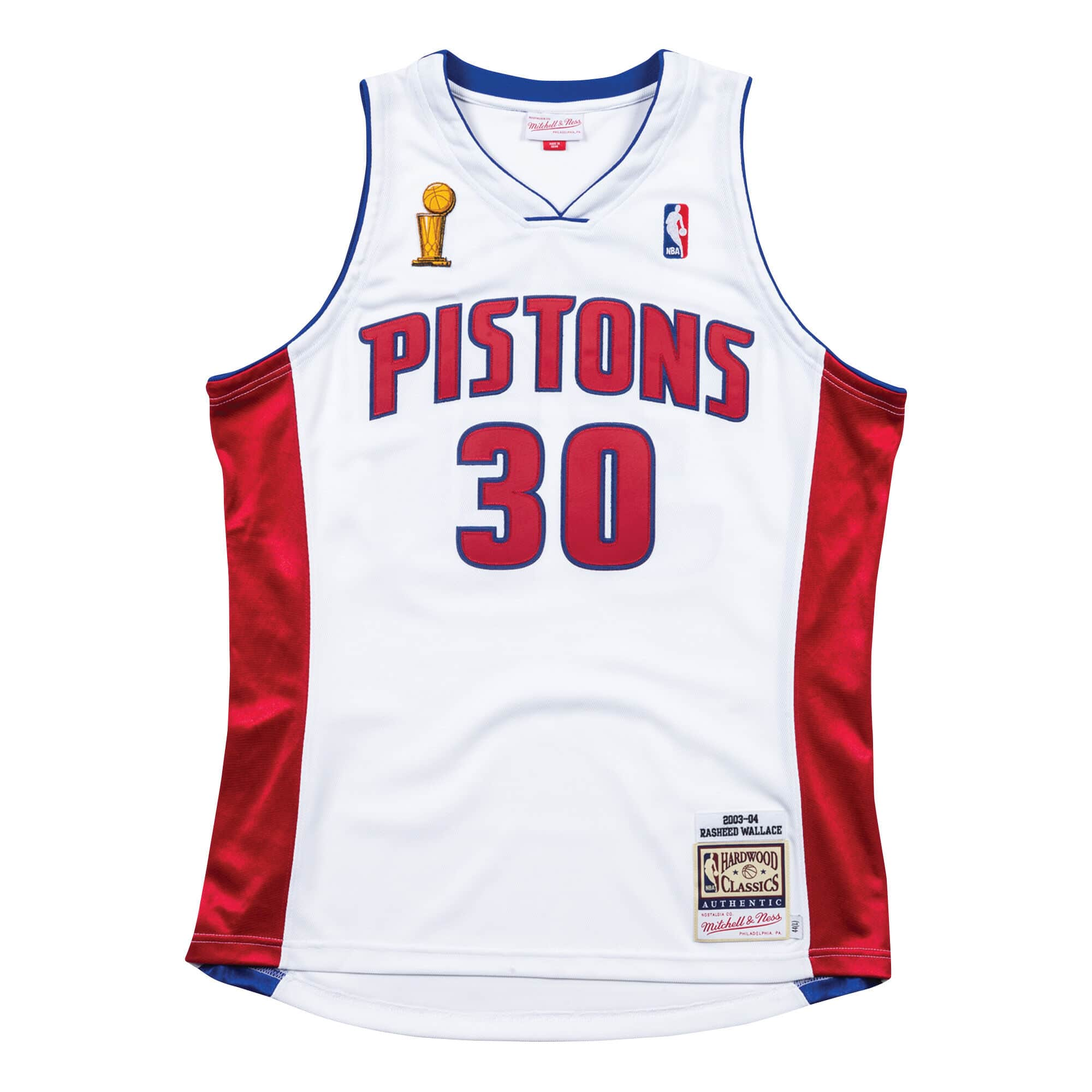 Authentic Jersey Detroit Pistons Home Finals 2003-04 Rasheed Wallace