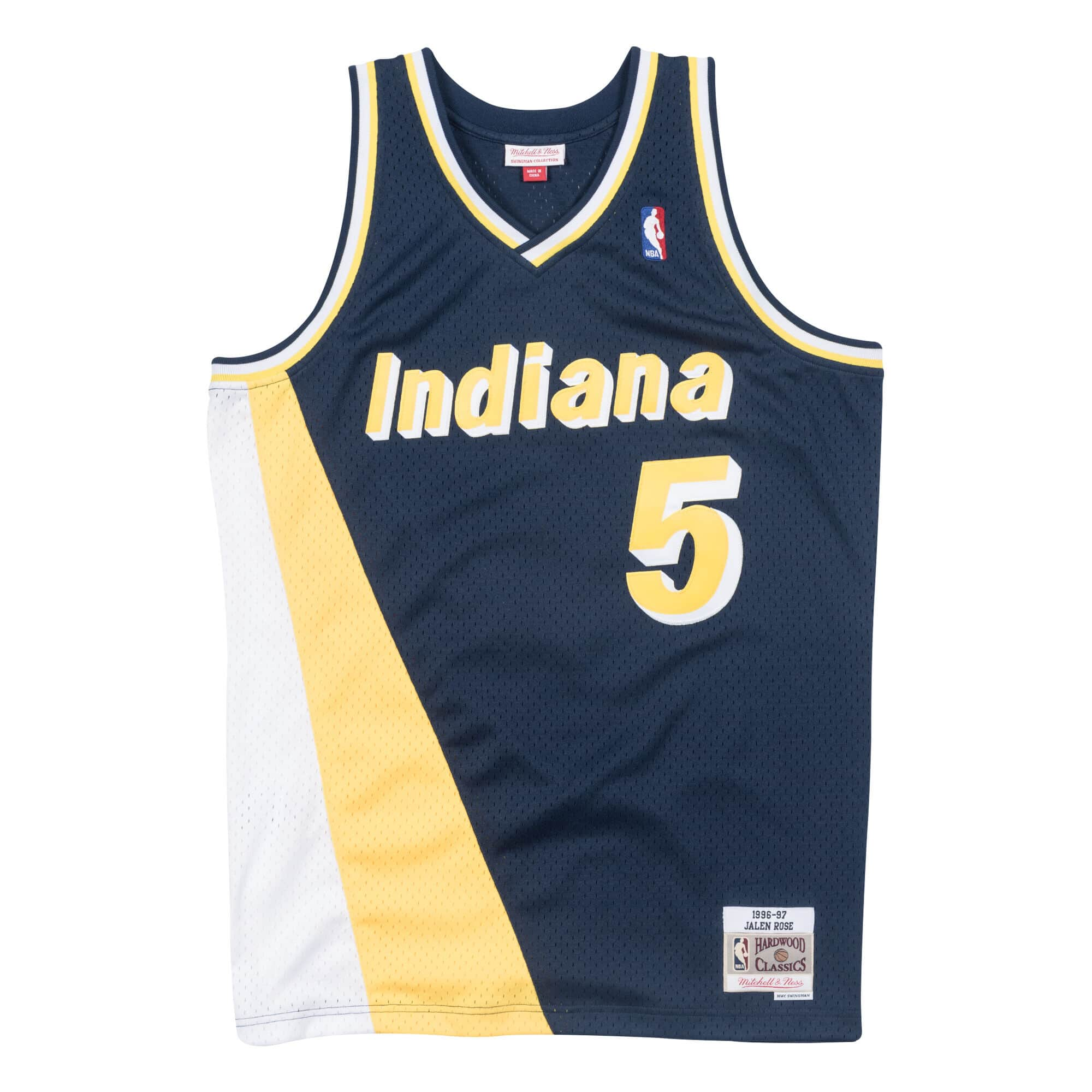 Jalen Rose 1996-97 Indiana Pacers Road Swingman Jersey