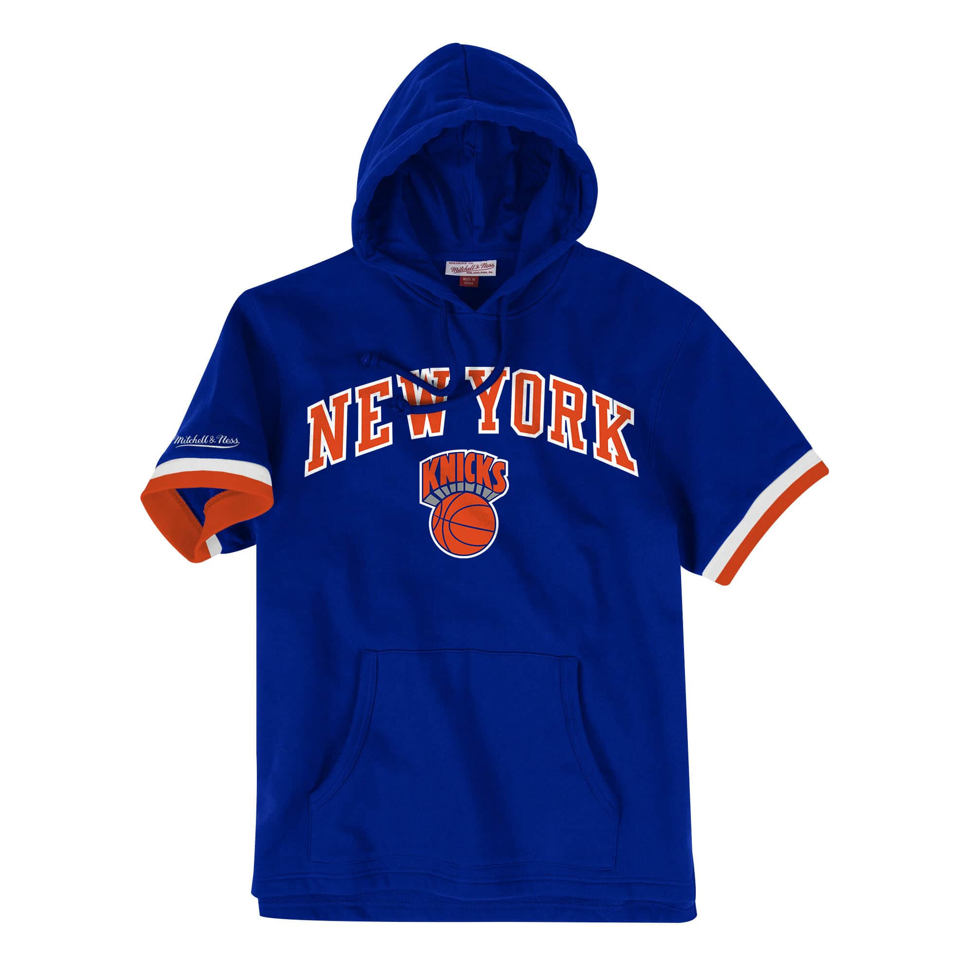French Terry Short Sleeve Hoody New York Knicks