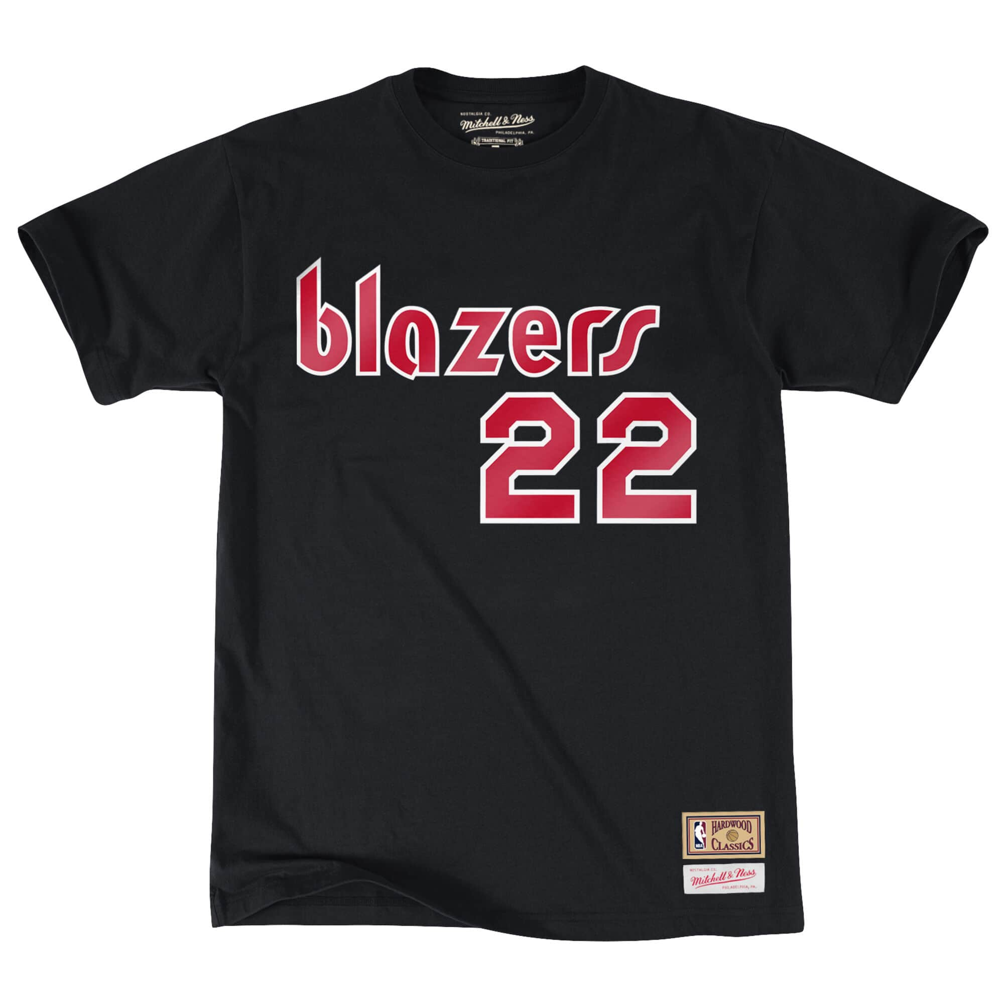 Clyde Drexler Name & Number Tee Portland Trail Blazers