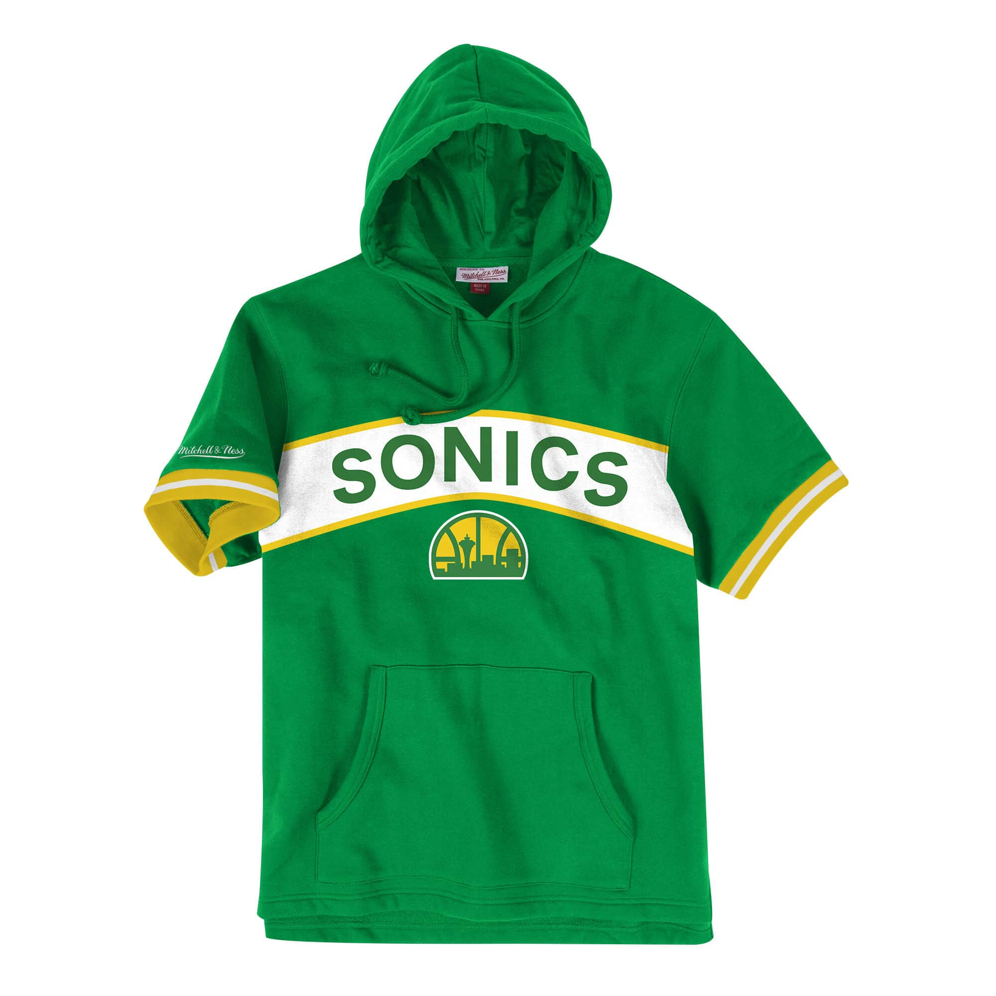 French Terry Short Sleeve Hoody Seattle SuperSonics