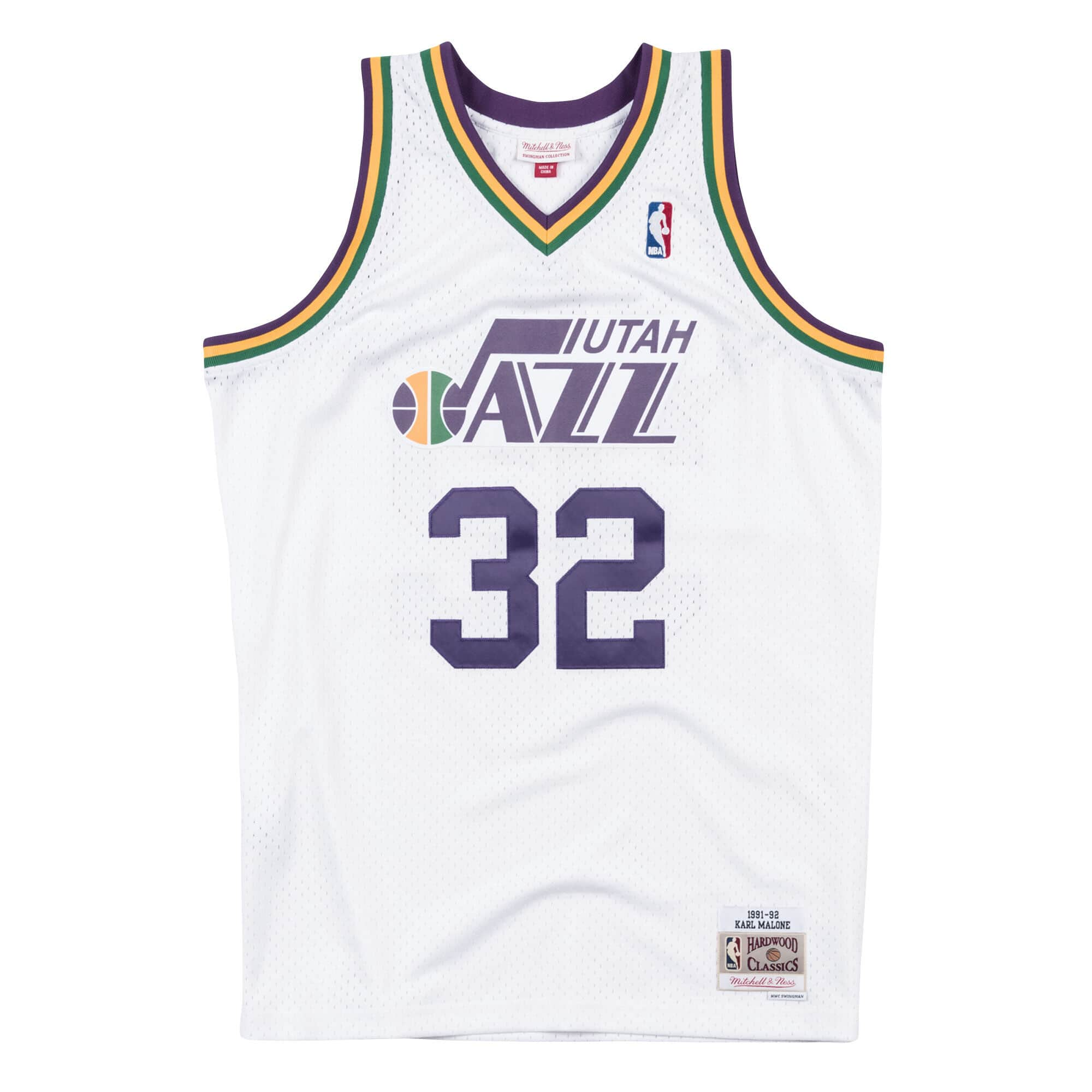 Swingman Jersey Utah Jazz Home 1991-92 Karl Malone