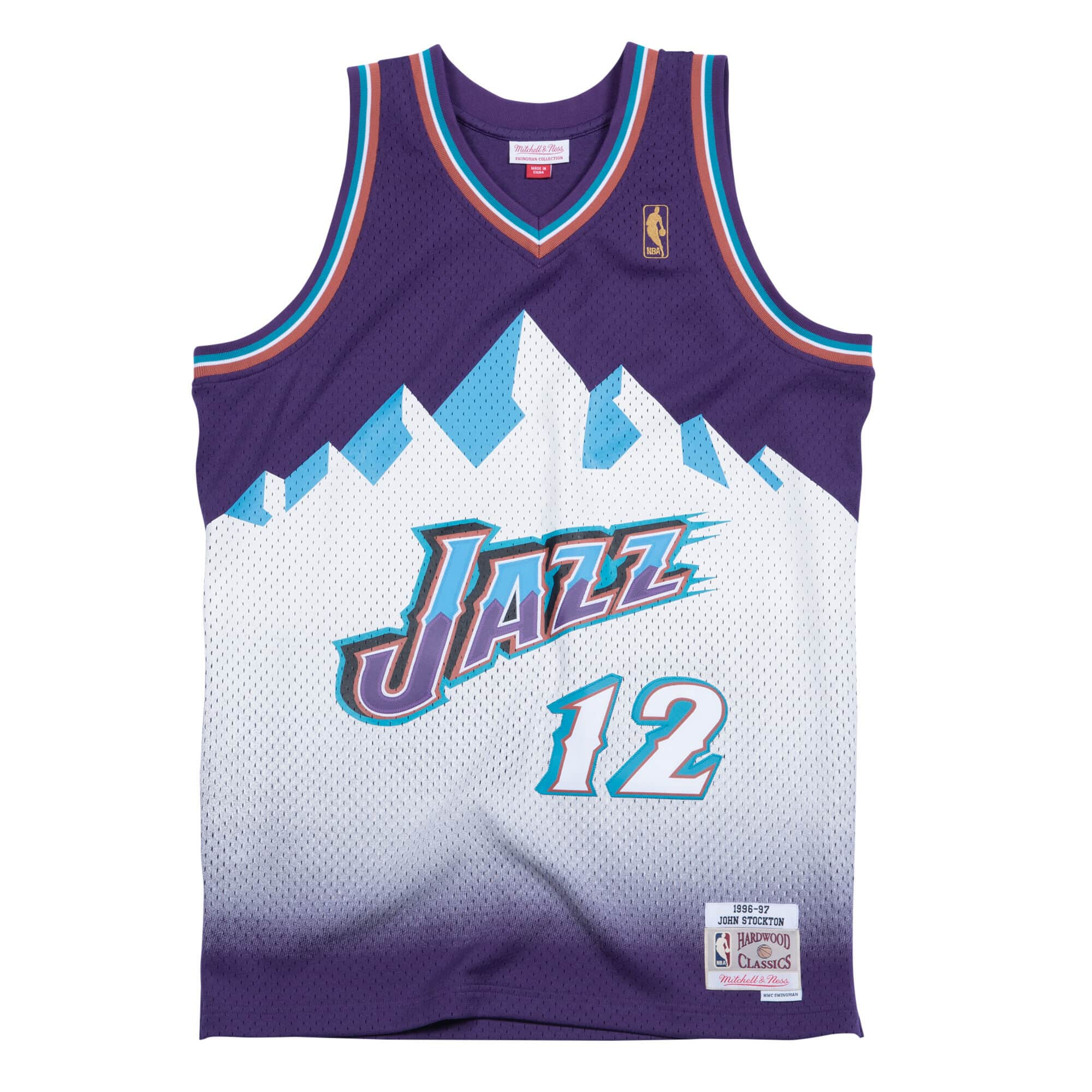 John Stockton 1996-97 Utah Jazz Road Swingman Jersey