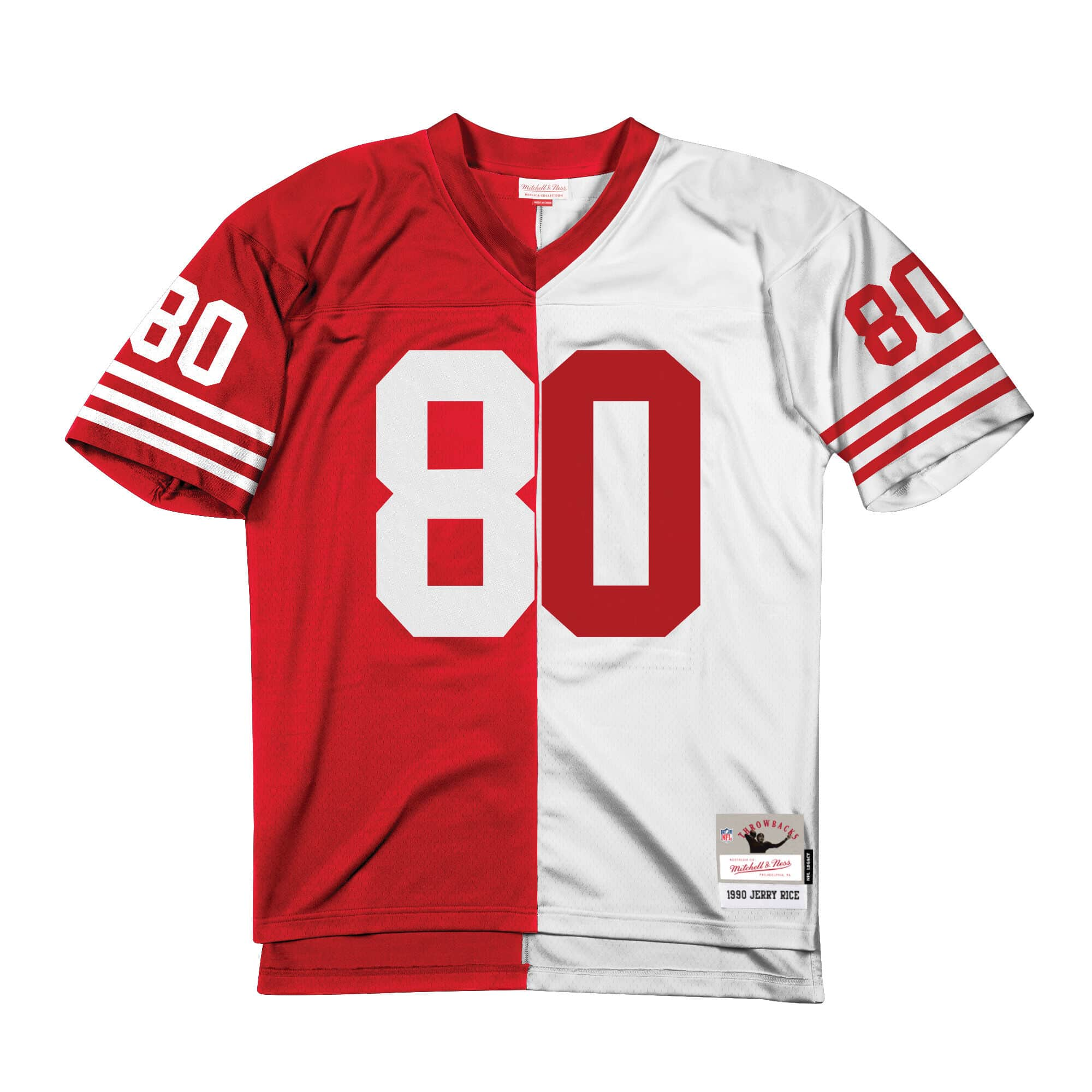 Split Home & Away Legacy Jersey San Francisco 49ers 1990 Jerry Rice