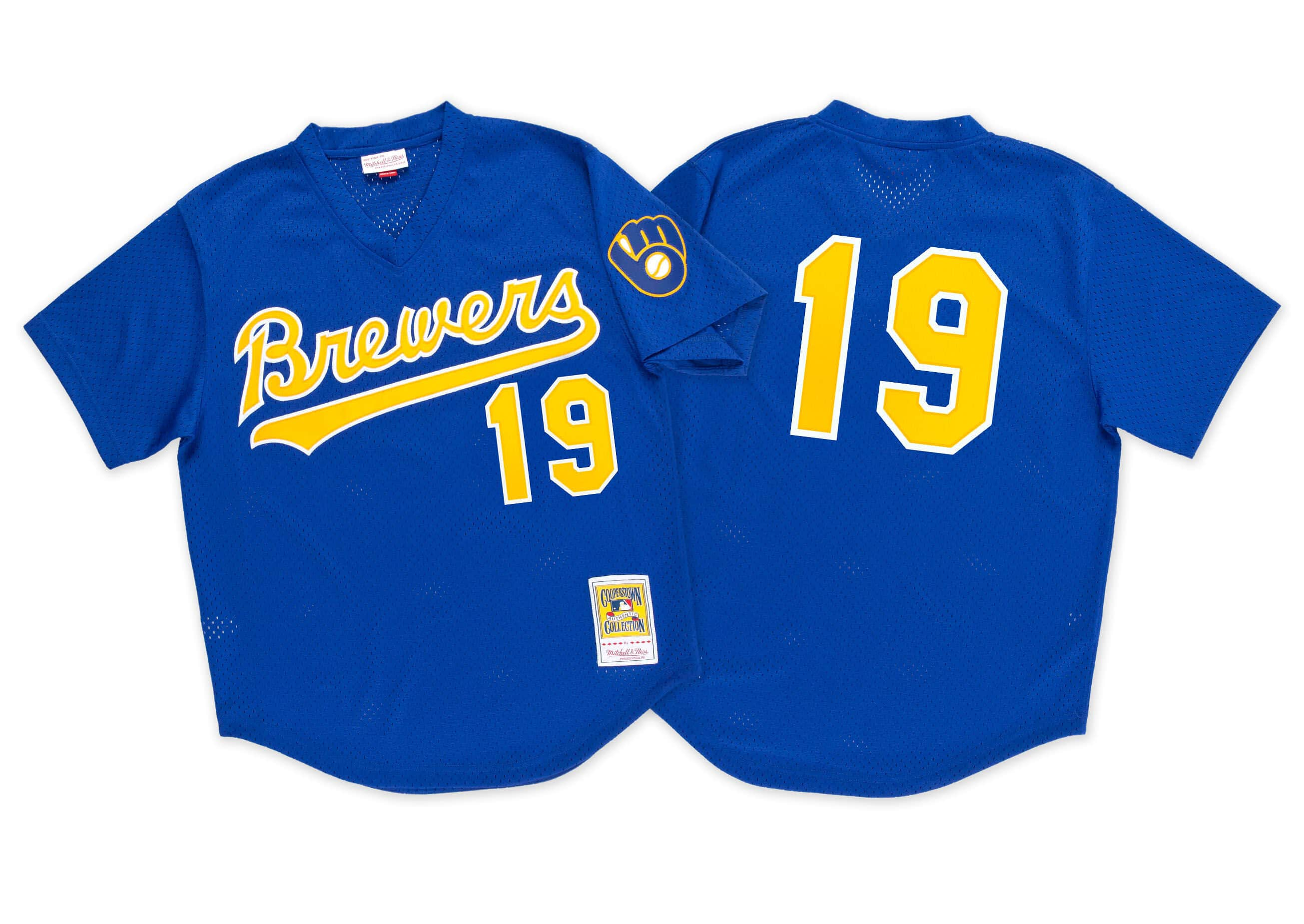 Robin Yount 1991 Authentic Mesh BP Jersey Milwaukee Brewers